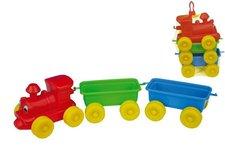 Teddies Vlak + 2 vagóny plast 60cm v síťce