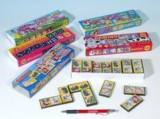 Teddies Domino společenská hra plast asst 6 druhů 28ks v krabičce 21x6x3cm