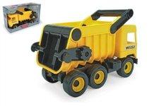 WADER Auto middle Truck sklápěč plast 38cm žlutý v krabici Wader
