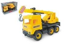 WADER Auto middle Truck jeřáb plast 40cm žlutý v krabici Wader