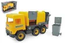 WADER Auto middle Truck popelář plast 42cm žlutý v krabici Wader