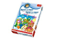 Trefl Malý objevitel Barvy a tvary edukační společenská hra v krabici