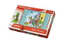 Trefl Vzdělávací puzzle mapa Evropy 200 dílků 60x40cm v krabici 33x23x6cm