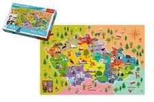 Trefl Vzdělávací puzzle mapa České republiky 44 dílků 60x40cm v krabici 33x23x6cm