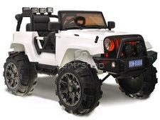 Dimix Elektrické auto JEEP Hellcat, 2 motory, R/C 2,4Ghz, EVA kola, bílé