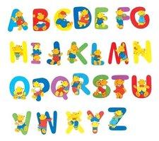 """Woody Písmeno s medvídkem """"S"""""""
