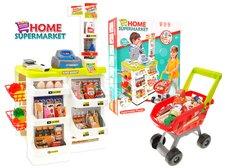 Dětský supermarket s váhou a nákupním vozíkem