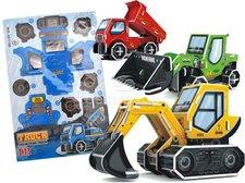 3D Puzzle stavební vozidla