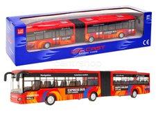 Kloubový autobus červený