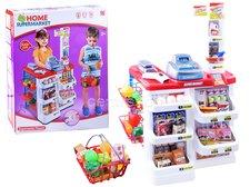 Dimix Obchod supermarket s košíkem a pokladnou