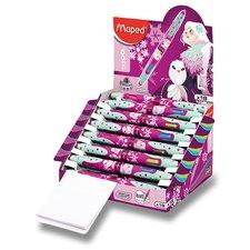 Kuličková tužka Maped Twin Tip 4 Tatoo - stojánek Princess, 18 ks