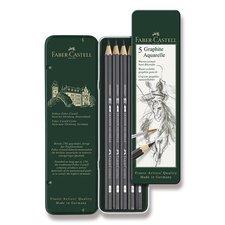 Faber-Castell Akvarelová grafitová tužka Art Aquarelle 5 ks, plechová krabička