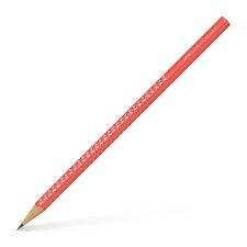 Grafitová tužka Faber-Castell - Sparkle - tvrdost HB neon - korálová