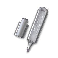 Faber-Castell Zvýrazňovač  Textliner 46 Metallic metalický stříbrný