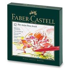 Faber-Castell Popisovač Pitt Artist Pen Brush studio box, 12 ks