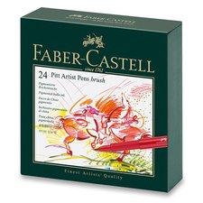 Faber-Castell Popisovač Pitt Artist Pen Brush studio box, 24 ks