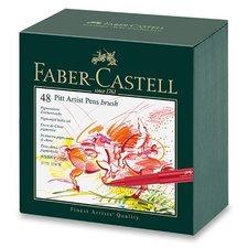 Faber-Castell Popisovač Pitt Artist Pen Brush studio box, 48 ks