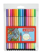 Fixy Stabilo Pen 68 - 15 barev