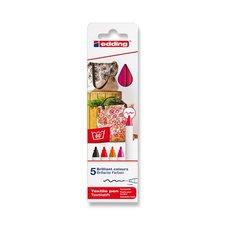 Edding Popisovač  na textil 4600 červené odstíny, 5 barev