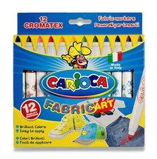 Carioca fixy  Fabric - 12 barev, silný hrot