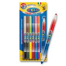 Dětské fixy Carioca Bi-Color - 12 barev