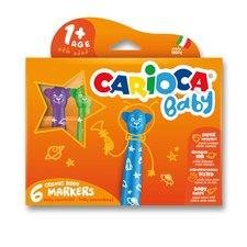 Dětské fixy Carioca Baby Teddy Marker - 6 barev