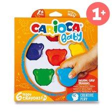 Carioca Plastové pastely Teddy Crayons 6 barev