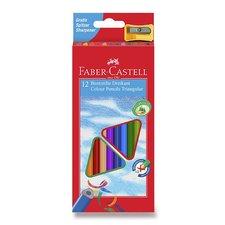 Faber-Castell Pastelky trojhranné 12 barev + ořezávátko
