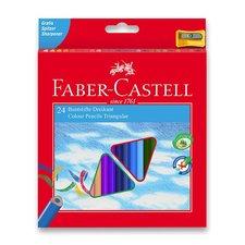 Faber-Castell Pastelky trojhranné 24 barev + ořezávátko