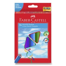 Faber-Castell Pastelky trojhranné 36 barev + ořezávátko