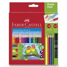 Faber-Castell Pastelky trojhranné 18 barev