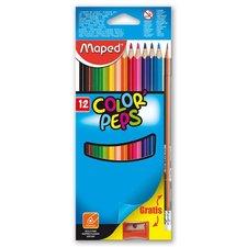Maped Pastelky Color'Peps 12 barev + ořezávátko a grafitová tužka