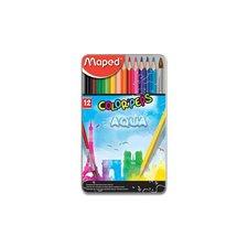 Maped Pastelky Color'Peps Metal Box Aqua 12 barev + štětec