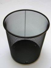Odpadkový koš - černý, kovový, 12l