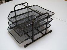 Kovový zásuvkový trojbox černý