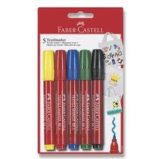 Faber-Castell Popisovač na textil 5 barev