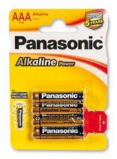 Baterie Panasonic Alkaline Power - AAA, 4 ks