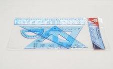 Sada 7502S geometrická modrá vzorce