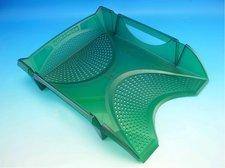 Zásuvka plastová zelená transparentní