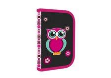 Karton P+P Penál 1patrový 2 klopy prázdný Pink Owl
