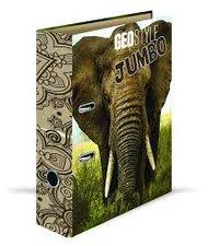 Karton P+P Pořadač A4 lamino páka 7cm GEO NATURE - slon