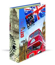 Karton P+P Pořadač A4 lamino páka 7cm GEO CITY - Londýn