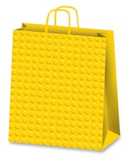 Dárková taška Dots, 260 x 120 x 360 mm, žlutá