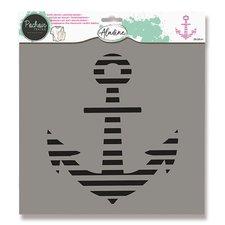 Aladine Plastová šablona - Kotva 28 x 28 cm