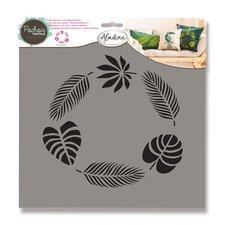 Aladine Plastová šablona - Tropické listy 28 x 28 cm