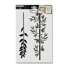 Aladine Plastová šablona  - Větve 20 x 30 cm