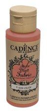 Barva na textil Cadence Style Matt Fabric, mat. červená, 59 ml
