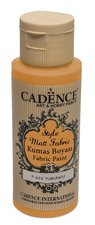 Barva na textil Cadence Style Matt Fabric oranžová, 59 ml