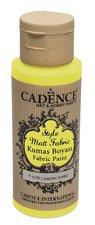 Barva na textil Cadence Style Matt Fabric žlutá, 59 ml