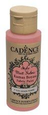 Barva na textil Cadence Style Matt Fabric růžová, 59 ml